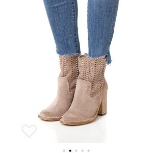 slouchy suede Dolce Vita stacked heel booties